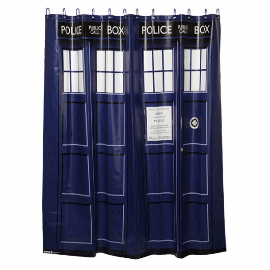 Doctor Who TARDIS Shower Curtain and Bath Accessories