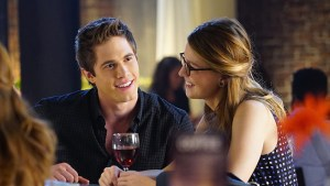 """Bizarro"" --Kara (Melissa Benoist, right) grows closer with Cat's son, Adam (Blake Jenner, left), on SUPERGIRL, Monday, Feb. 1 (8:00-9:00 PM) on the CBS Television Network. Photo: Monty Brinton/CBS ©2015 CBS Broadcasting, Inc. All Rights Reserved"