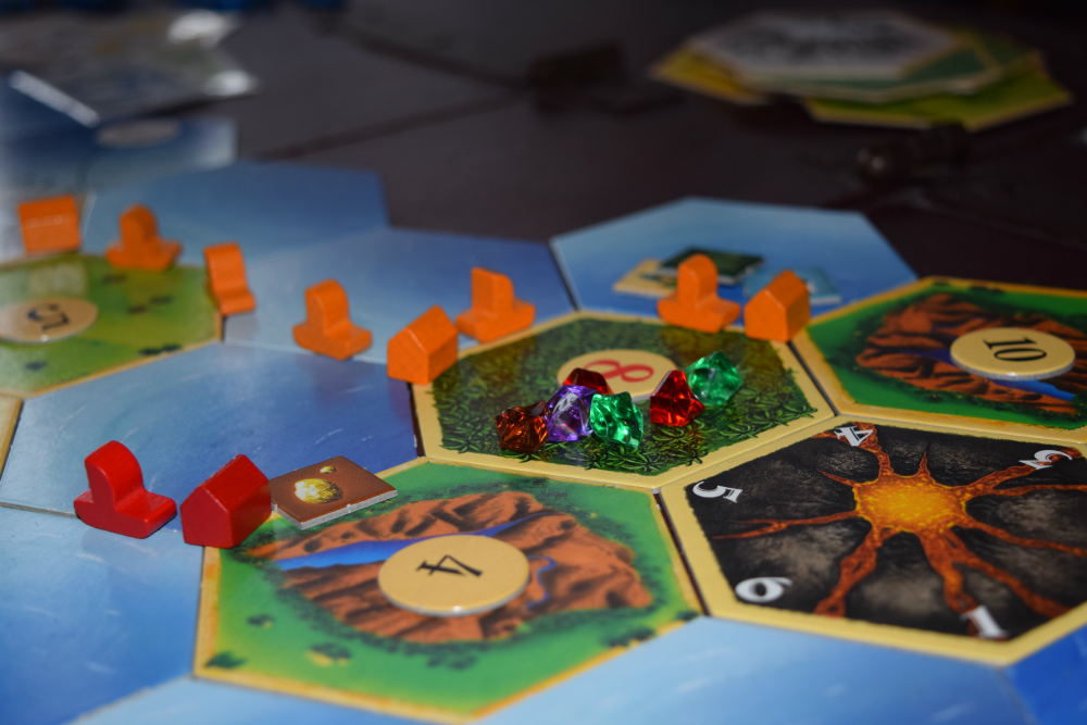 Classic Catan Board with Wooden Pieces