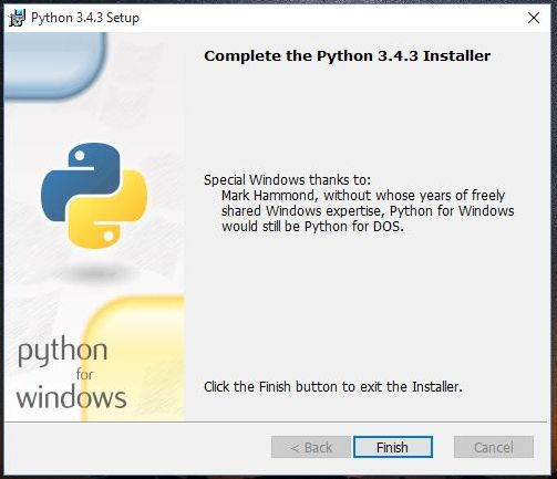 Installed Python