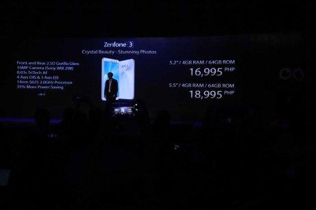 Zenfone 3 Price ZE520KL and ZE552KL