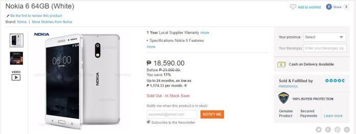 Nokia 6 Lazada Screenshot
