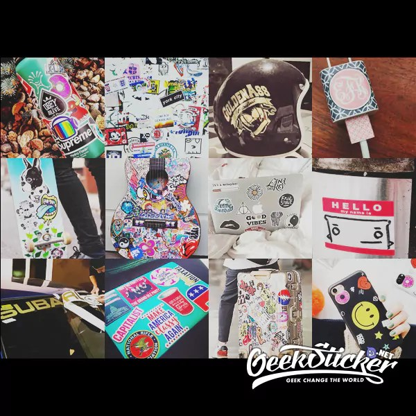 Supreme Shoes sticker bomb car styling cartoon waterproof