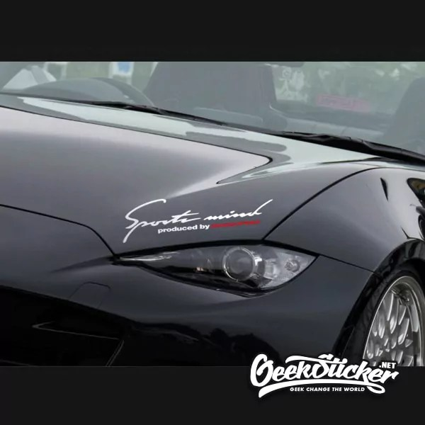 Sports mind Powered by Super Sport Performance Car Vinyl Decal Sticker logo