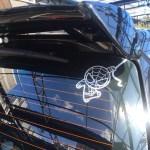 Cartoon funny cute Spiderman waterproof reflective universal body sticker vinyl warning sticker motorcycle sticker car shape photo review