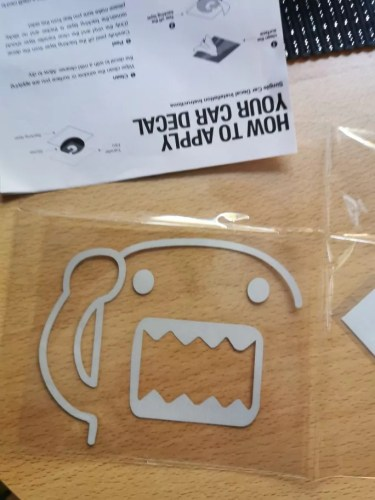 Domo kun jdm hellaflush car sticker reflective waterproof cool decals modified accessories for mazda toyota honda bmw 4 colors photo review