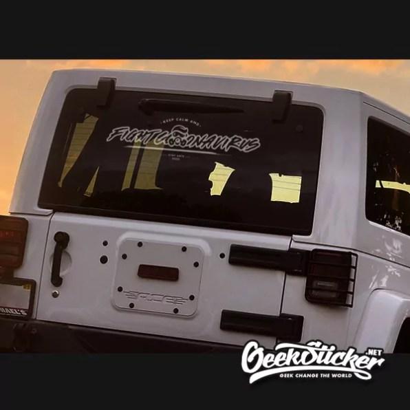 Fight Coronavirus car decal-2