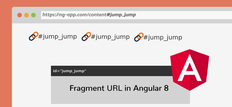 Fragment URL in Angular 8