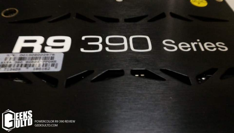 R9 390 backplate