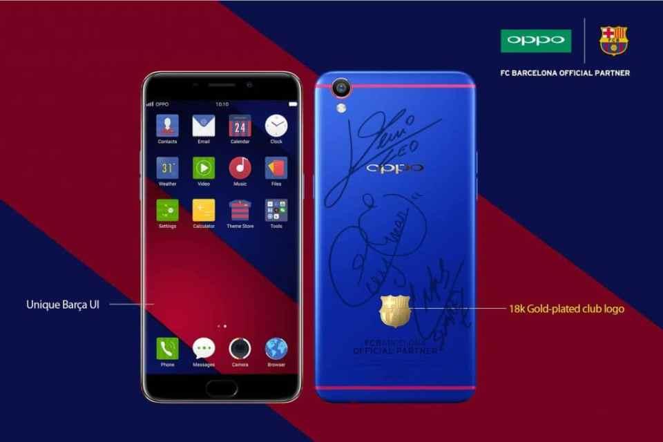 Oppo F1 Plus FC Barcelona Edition