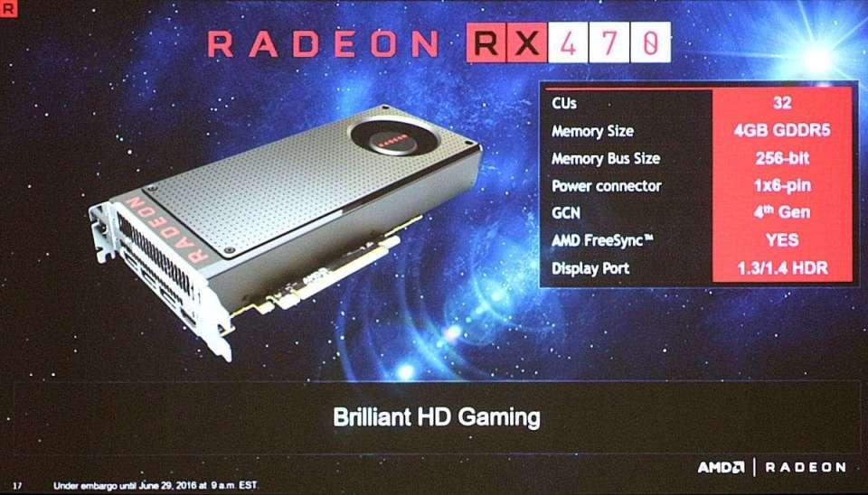 AMD's RX 470 Specs
