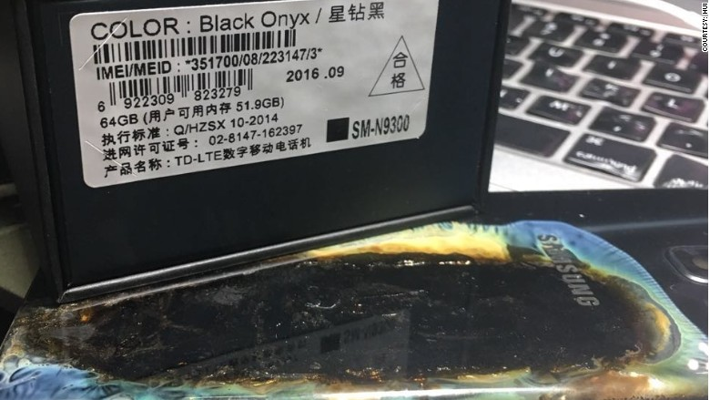"""New """"Safe"""" Samsung Galaxy Note 7 Explodes in China"""