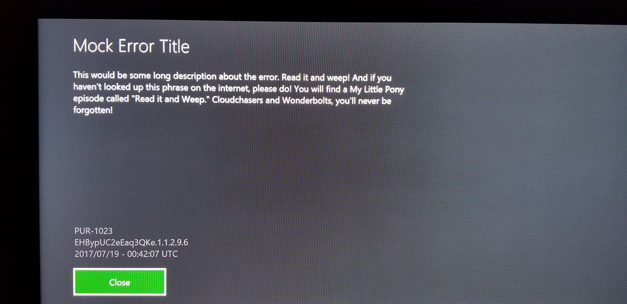 """Xbox One Users Are Getting An Error Message That Links to TV Show """"My Little Pony"""" and It's Hilarious"""