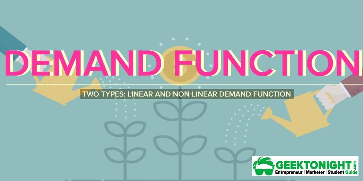 Demand Function in Economics | Two Type