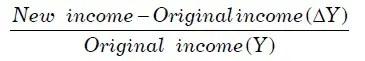 Income Elasticity of Demand Formula 2