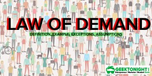 Law of Demand | Definition, Example, Exceptions, Assumptions