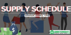 Supply Schedule | Definition, Example, [Individual & Market]