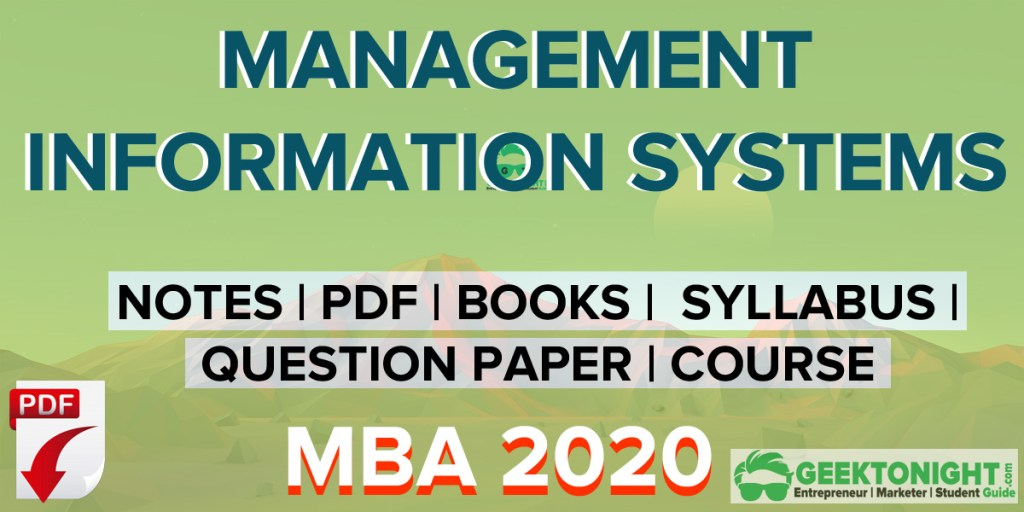 Management Information System Notes