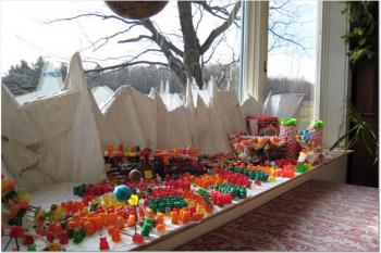 Battle of Helm's Deep made from candy