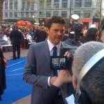 Karl Urban on the blue 'red carpet'