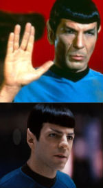 Nimoy proving whos the daddy