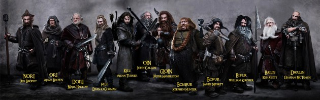 12 Dwarves From The Hobbit