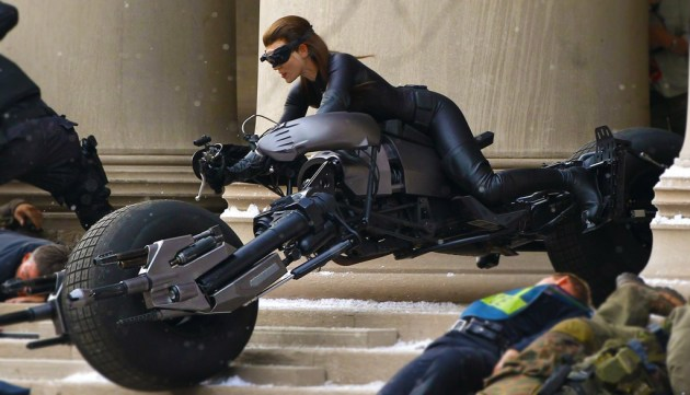 Anne Hathaway as Catwoman in The Dark Knight Returns