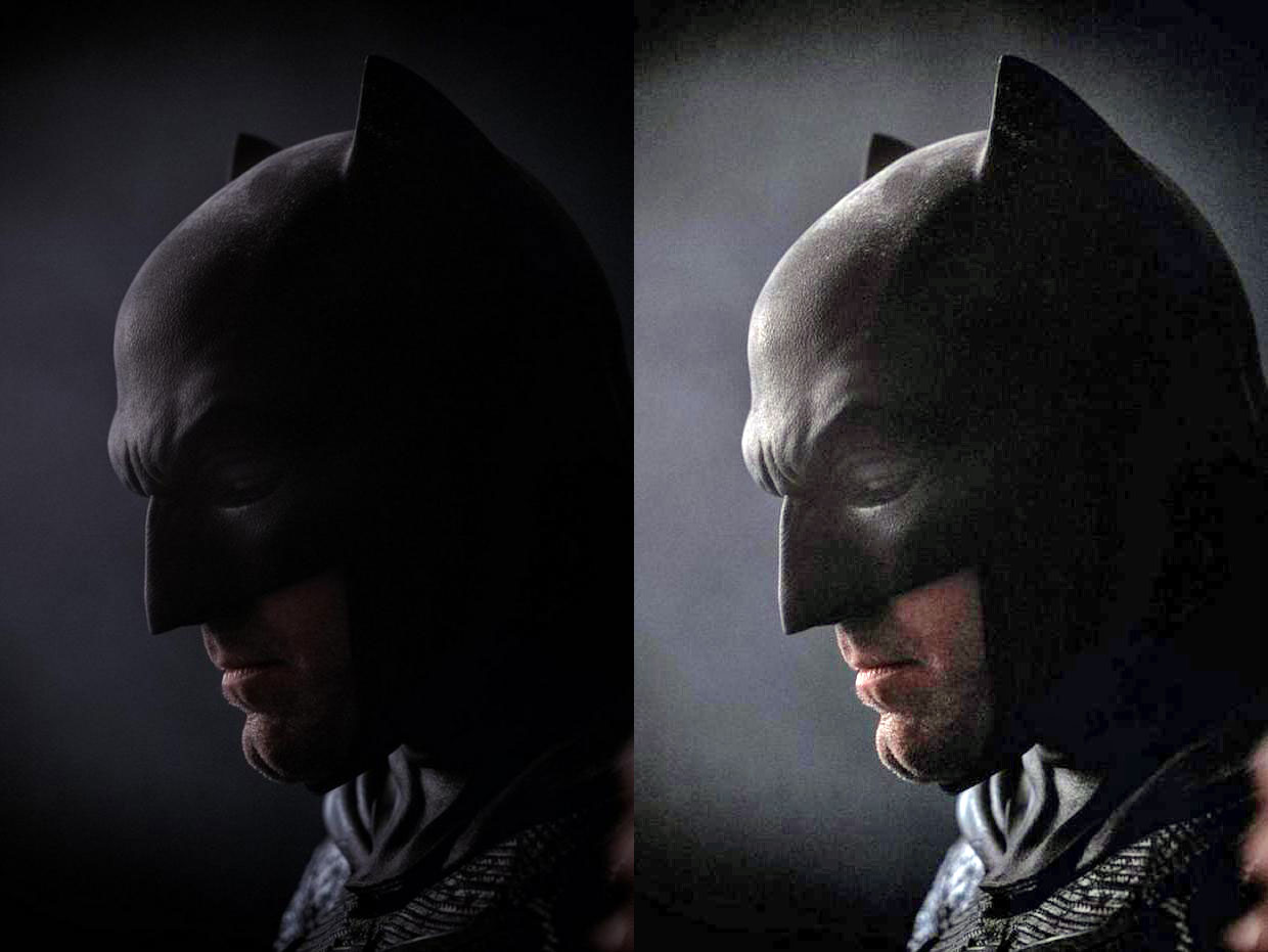 SDCC Round Up : Arrow's new Arsenal, Affleck as Batman ... Batman Cowl Ben Affleck