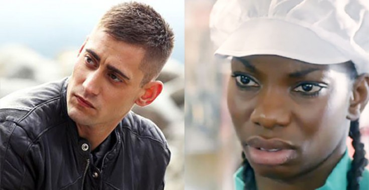 Being Human's Michael Socha and Top Boy's Michaela Coel
