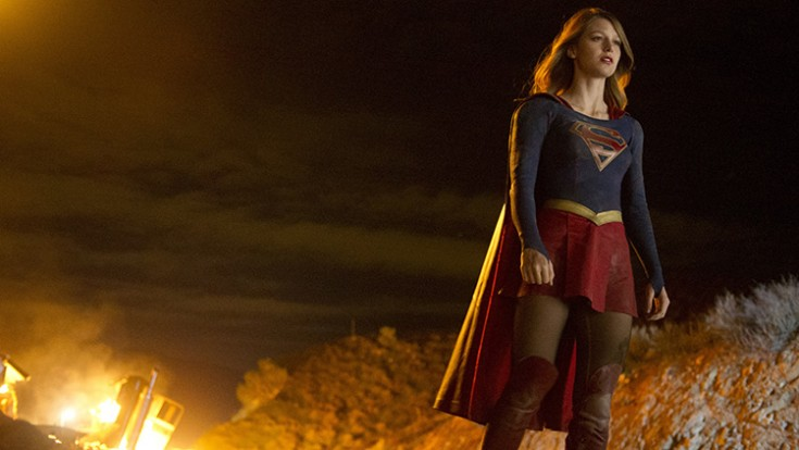 Melissa Benoist as Supergirl lands on Sky1