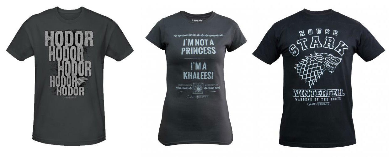 Our top 5 game of thrones merchandise geektown for Game t shirts uk