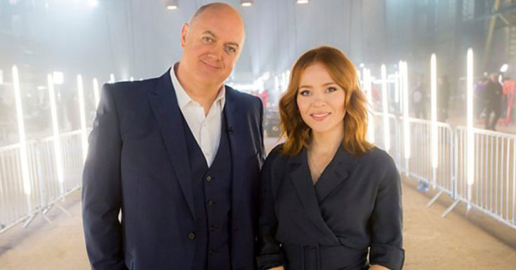Dara O Briain and Angela Scanlon