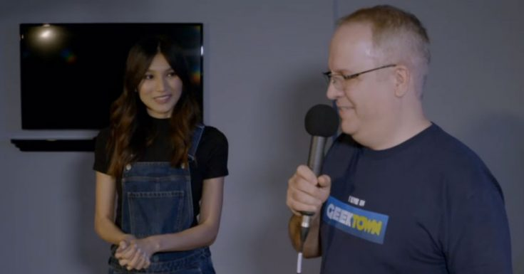 Interview With Gemma Chan, And Meeting Gemmabot!