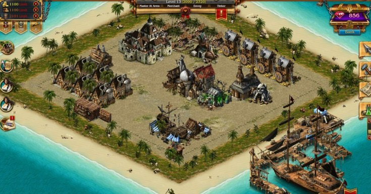 A screenshot from Pirates: Tides of Fortune.