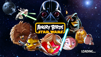 Angry Birds Star Wars Title Screen