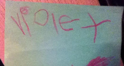 POD: Violet writes her Name