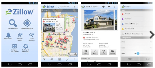Zillow Real Estate & Rentals for Android