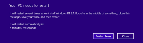 restart windows 8.1