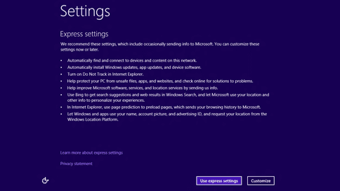 windows 8.1 settings