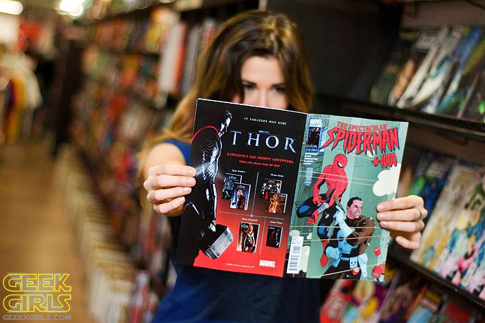 Danielle at Heroes Comics