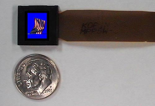 The World's Smallest SVGA Display