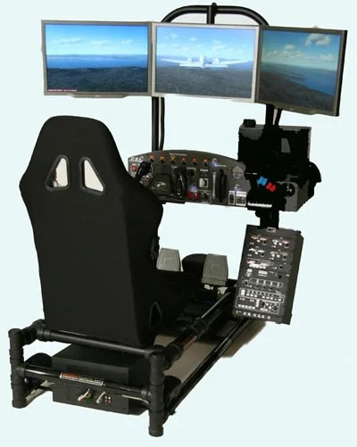 gaming chair with monitors hanging home depot geeky - the ultimate flight simulator