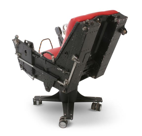 ejection seat office chair white saucer f-4