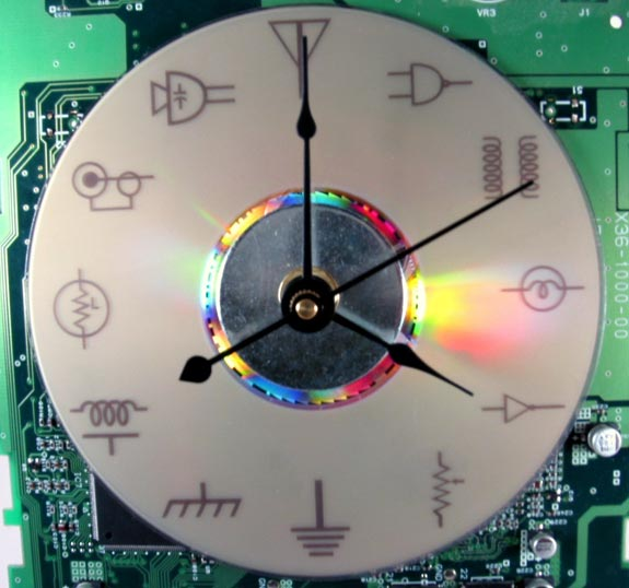 Circuit Board Clock Made From Old Circuit Board The Numbers Have