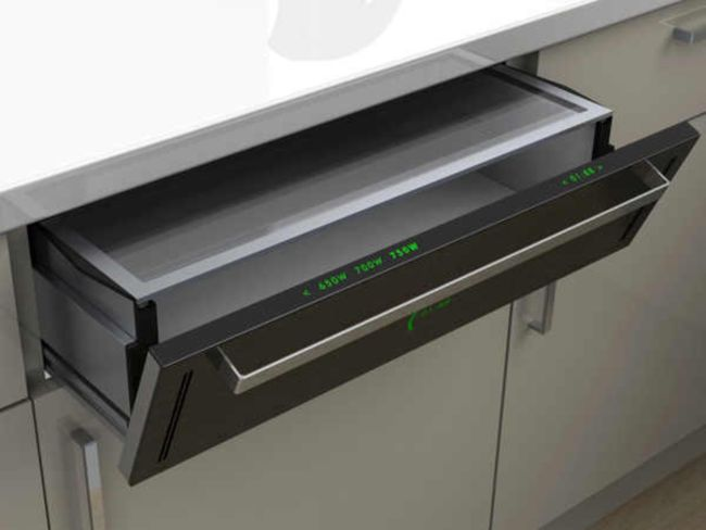 cookbox concept puts microwave in a drawer