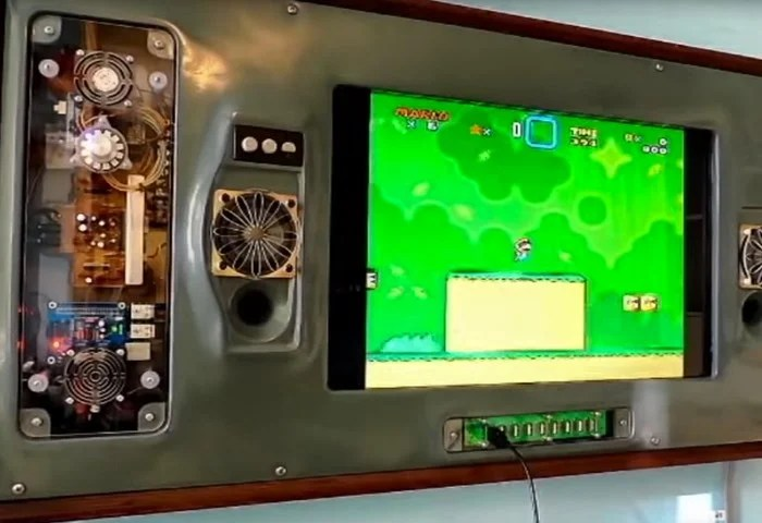 Wall Mounted Raspberry Pi Games Console Video Geeky