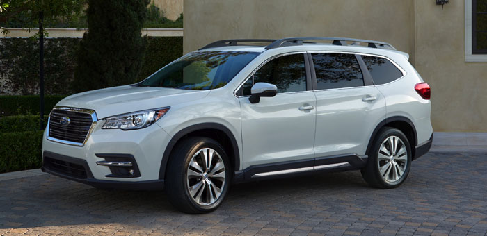 suv with 3 rows and captains chairs cane seat dining room 2019 subaru ascent holds 7 or 8 passengers geeky gadgets the vehicle will be offered in four trims two seating configurations include a seater second row captain s