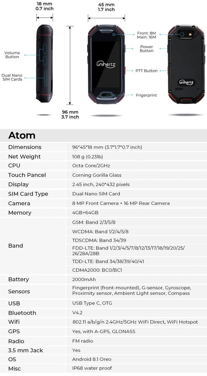 Atom 4G Rugged Pocket Smartphone Hits Kickstarter