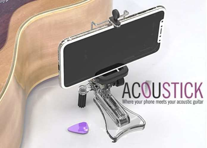AcouStick Acoustic Guitar Smartphone Holder