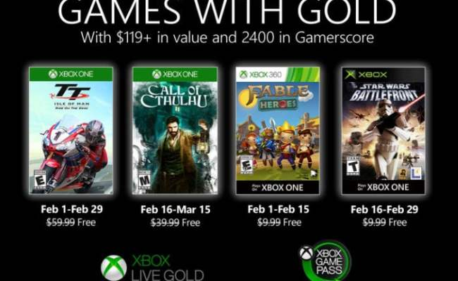 Free Xbox Games With Gold For February 2020 Geeky Gadgets